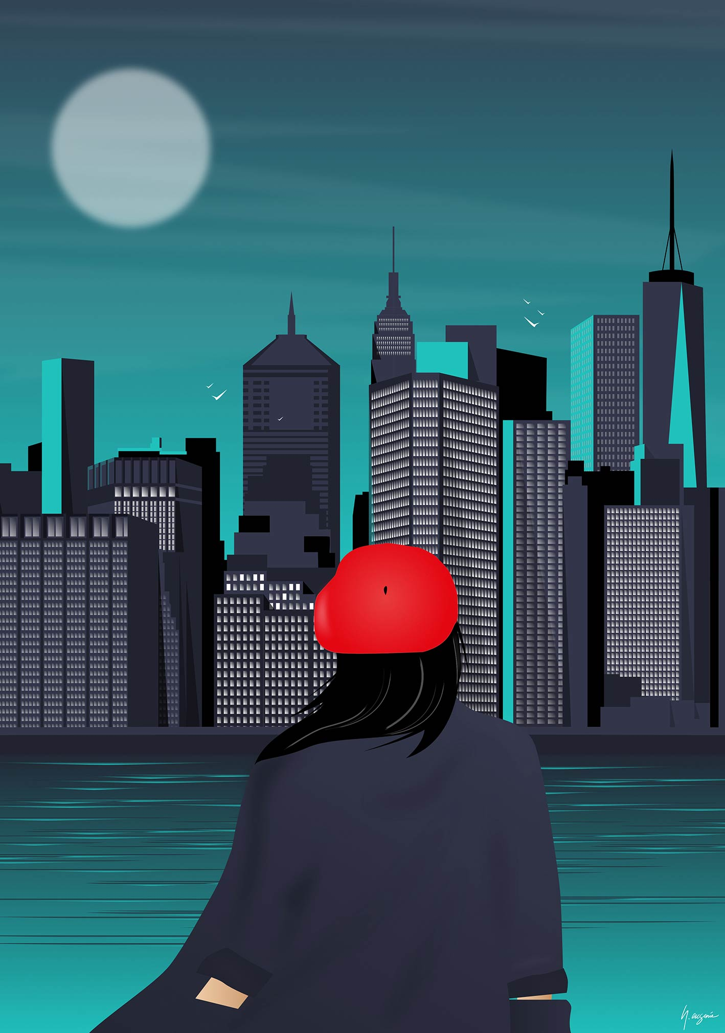 skyline new york par l'illustrateur français nicolas eugenie